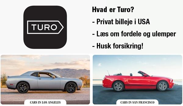 Hvad er Turo? - Privat billeje USA