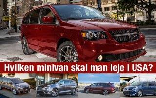 Anbefaling leje minivan USA