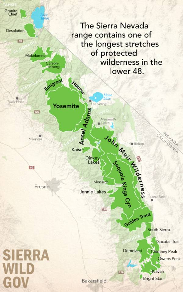 Sierra Nevada wilderness
