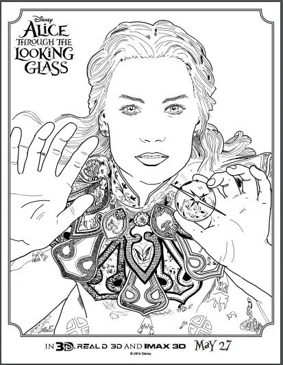 ALICE THROUGH THE LOOKING GLASS: Coloring & Activity Sheets