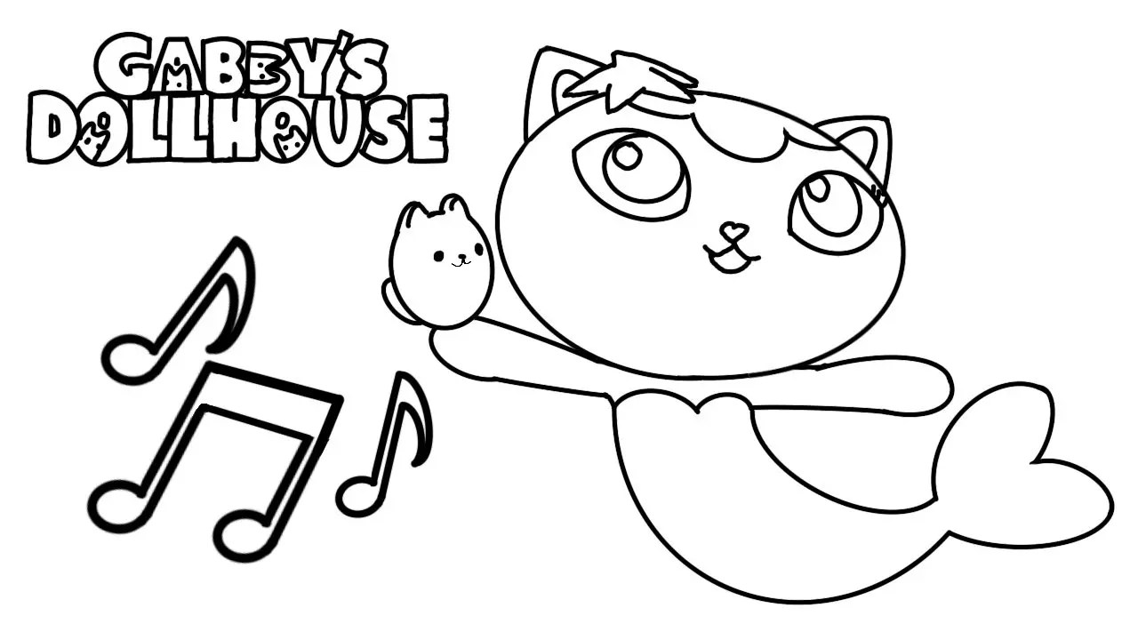 Netflix's Gabbys Dollhouse Coloring Pages Collection