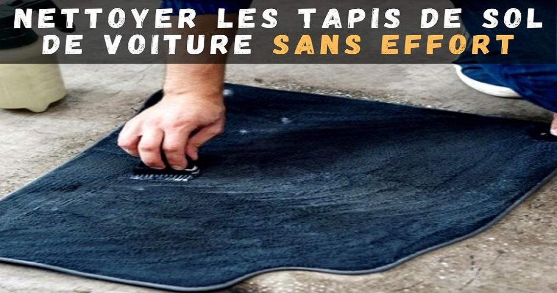 nettoyer les tapis de sol de voiture