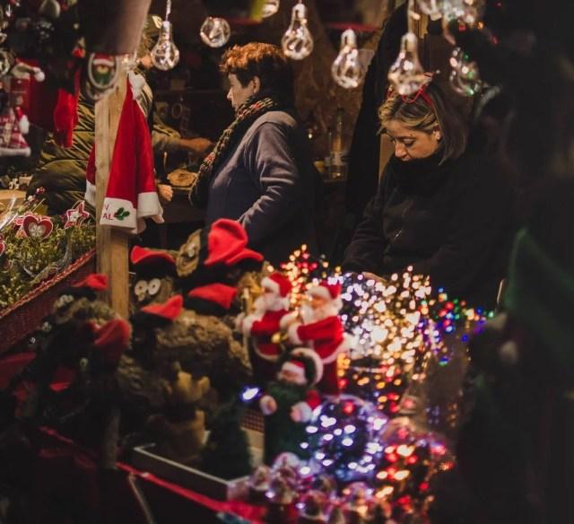 På julemarked i Barcelona