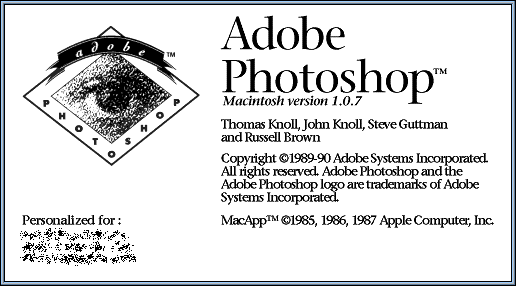 Splash in Adobe Photoshop 1.0.7