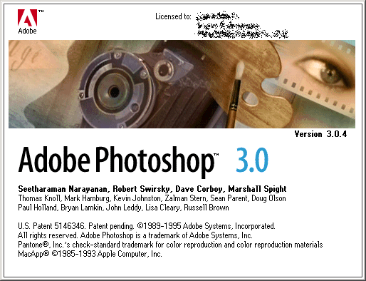 Splash in Adobe Photoshop 3.0