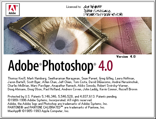 Splash in Adobe Photoshop 4.0