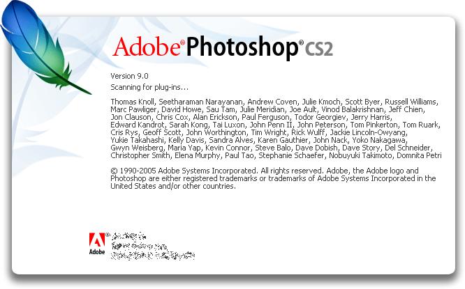 Splash in Adobe Photoshop CS2