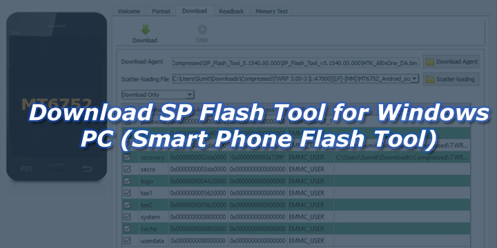 Download SP Flash Tool for Windows PC (Smart Phone Flash Tool)
