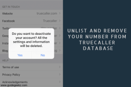 How to Unlist and Remove your Number from Truecaller Database