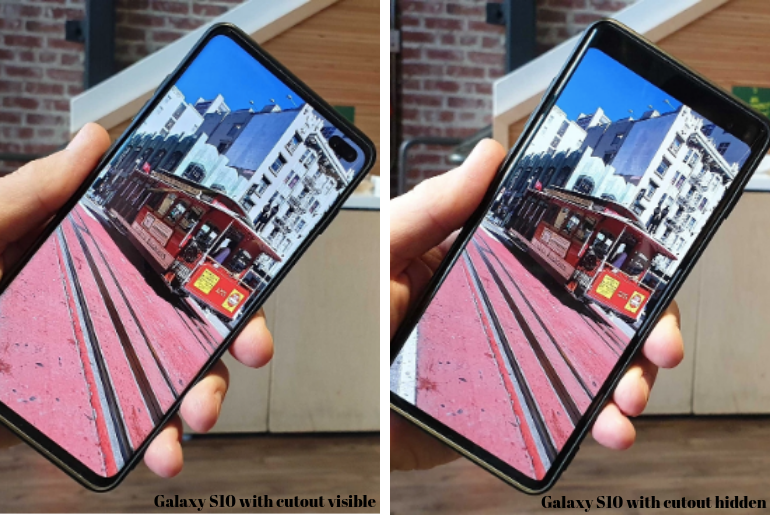 How to Hide Front Camera Cutout on Galaxy S10 and Galaxy S10+