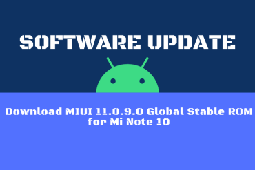 Download MIUI 11.0.9.0 Global Stable ROM for Mi Note 10