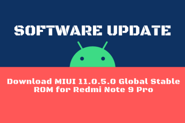 Download MIUI 11.0.5.0 Global Stable ROM for Redmi Note 9 Pro