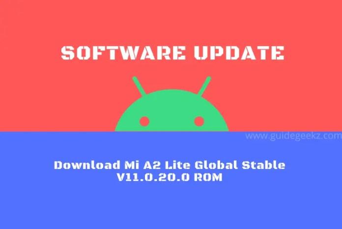 Download Mi A2 Lite Global Stable V11.0.20.0 ROM