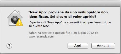 App non riconosciuteda Apple 4
