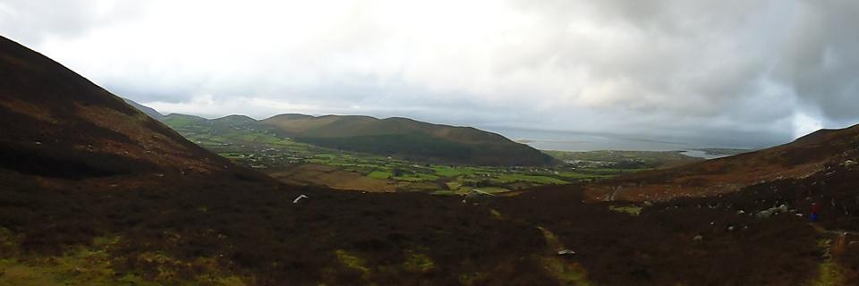 curra mountain Dingle bay panorama P1010396