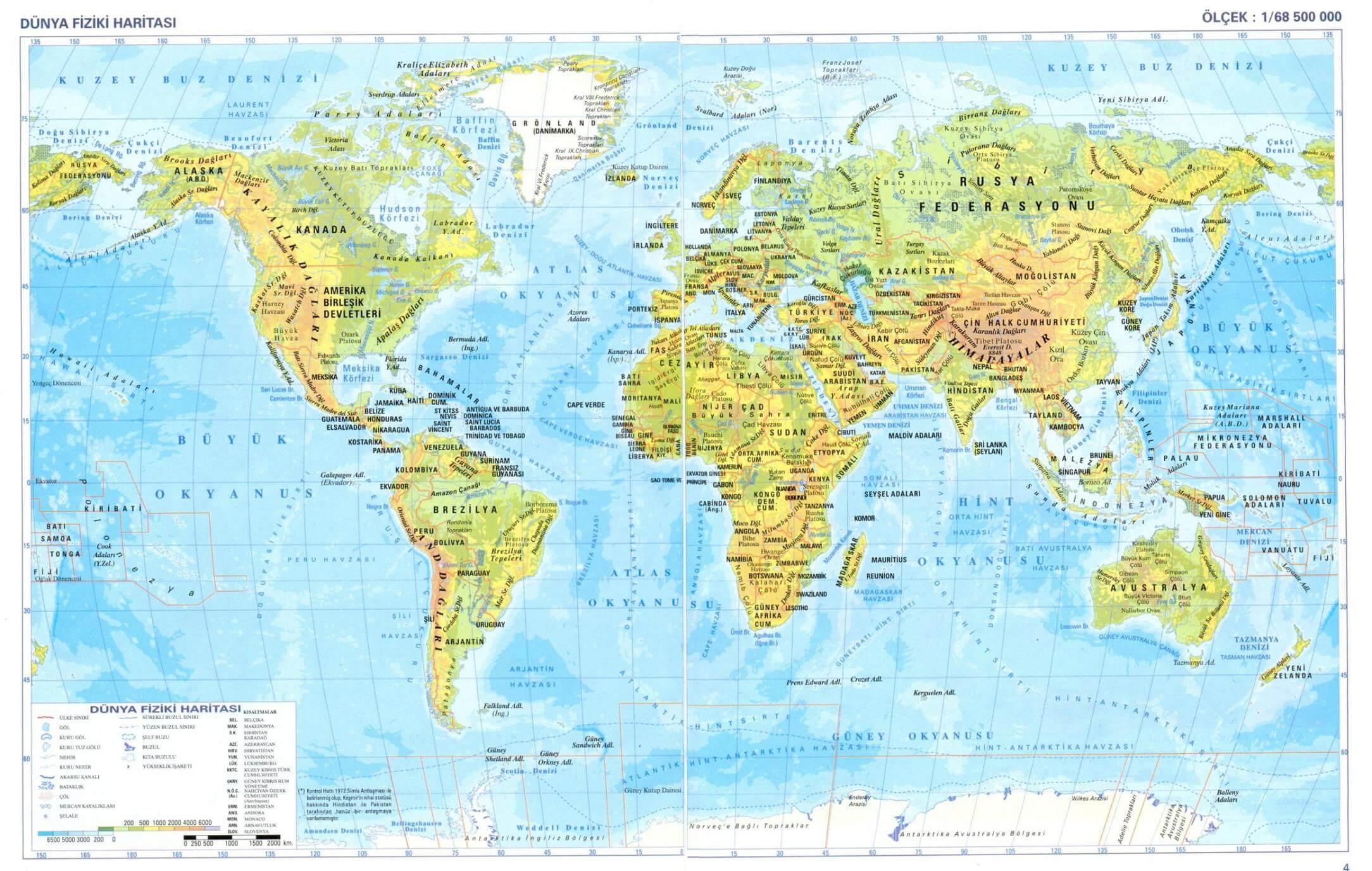 World Physical Maps