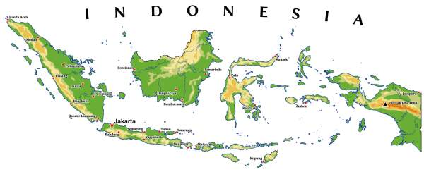 Indonesia Map Guide of the World