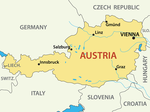 Austria Map Guide of the World
