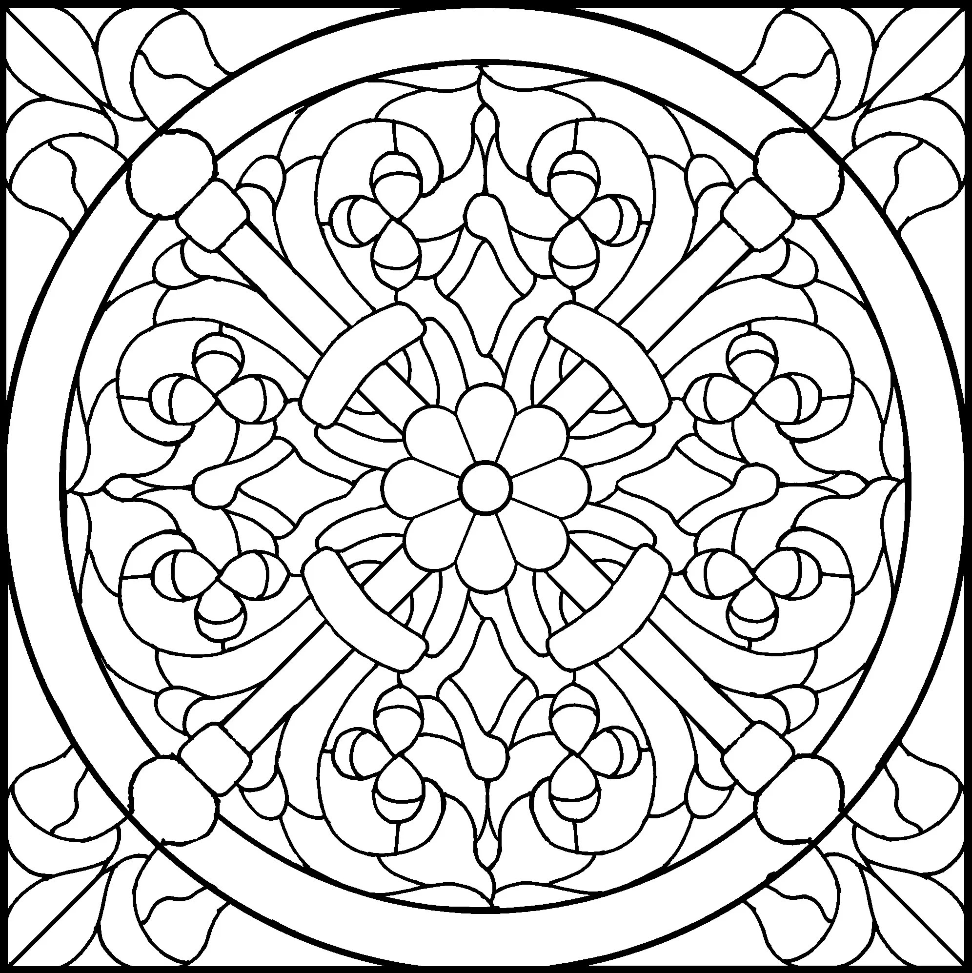 Free coloring pages of gothic windows