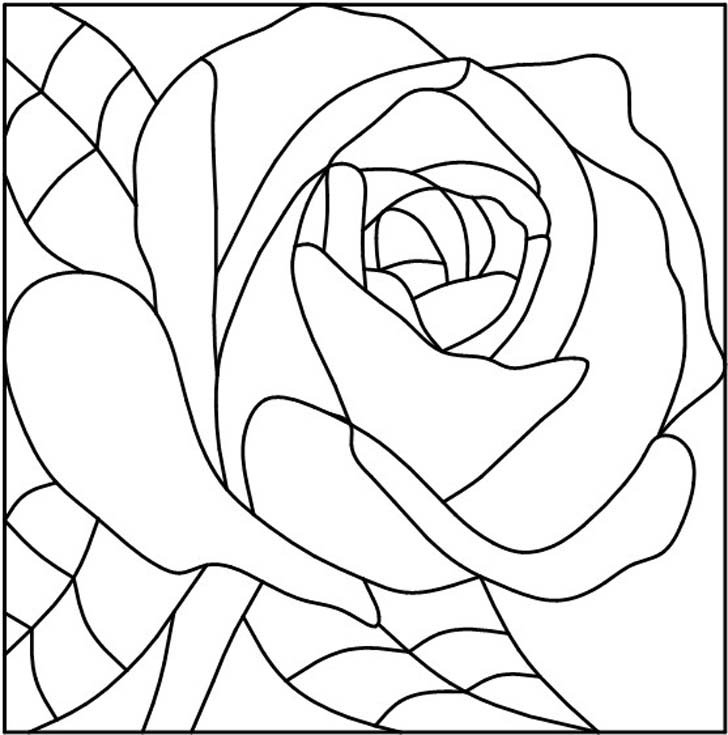 Spring Coloring Pages Stain Glass Flowers Free Printable