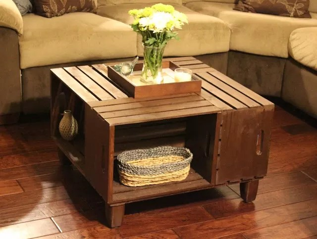 White Wood Square Coffee Table