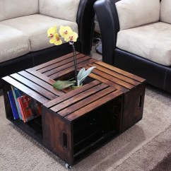 Cheap Center Tables For Living Room Oversized Furniture 20 Diy Wooden Crate Coffee | Guide Patterns