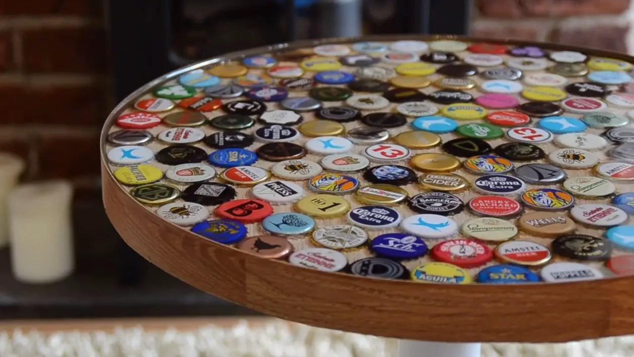 18 DIY Beer Bottle Cap Table Designs  Guide Patterns