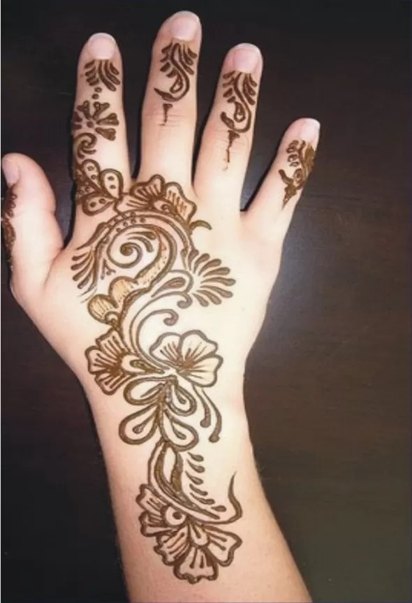 Very Easy And Beautiful Mehndi Designs For Kids