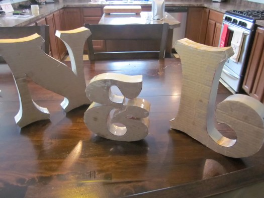 Decorated Paper Mache Letters | Decoration For Home