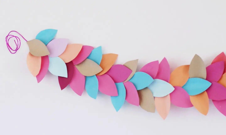 paper flower garland making