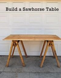 18 DIY Sawhorse Desk Plans | Guide Patterns