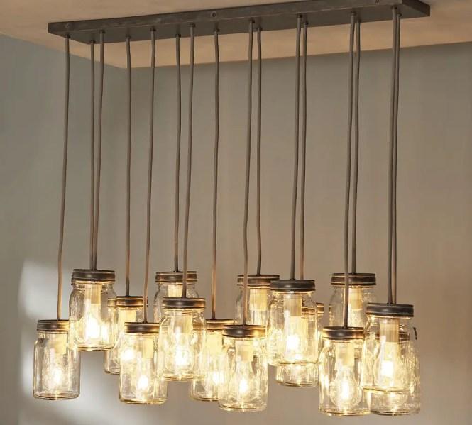 Mason Jar Lantern Chandelier