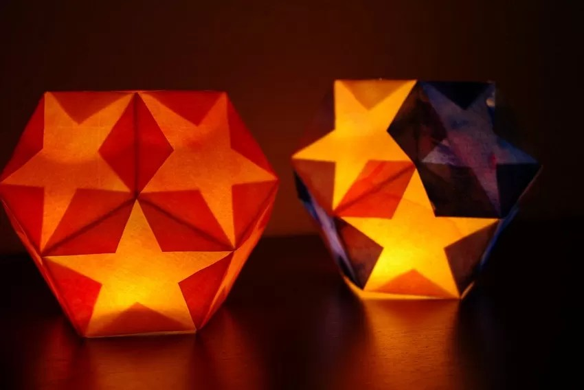 Battery Powered Art Lamps