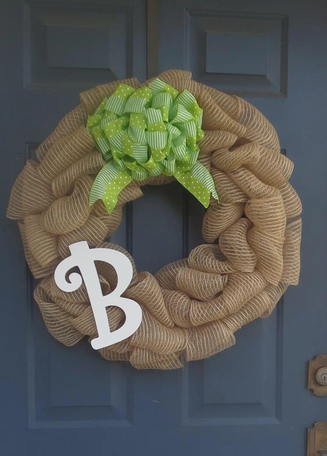 how to make a monogram wreath