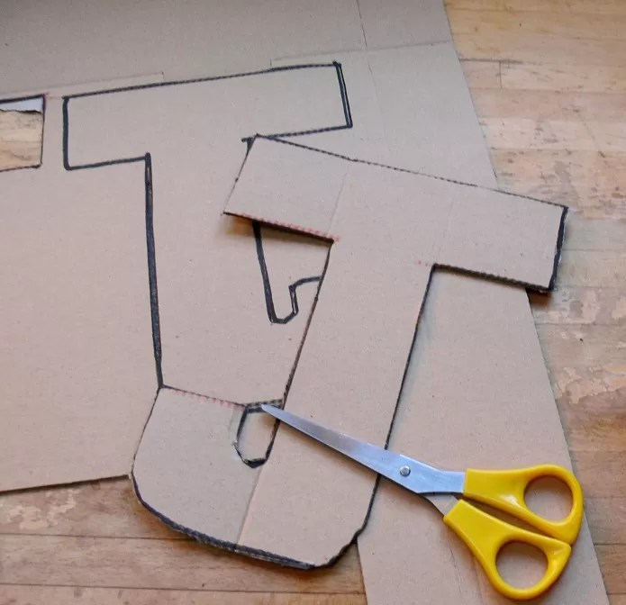21 DIY Cardboard Letters Guide Patterns