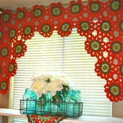 Kitchen Curtain Patterns Lighting For Kitchens 19 Cool Crochet Curtains Guide
