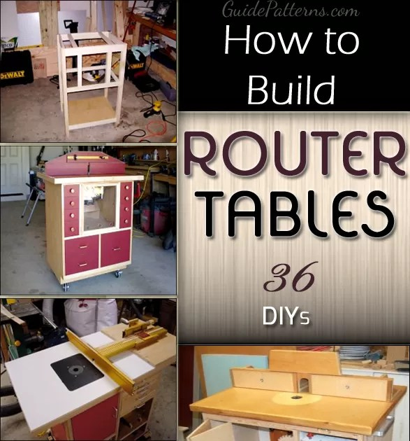 diy living room furniture plans contemporary rugs how to build a router table: 36 diys | guide patterns