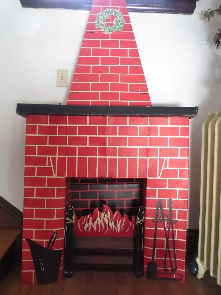 12 Tutorials to Make a Cardboard Fireplace