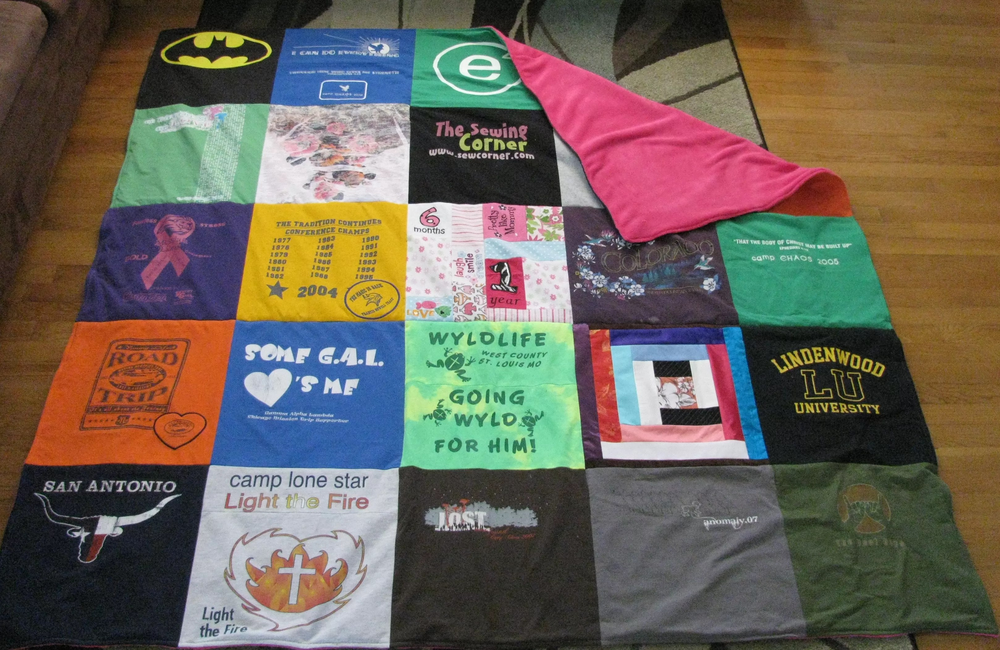 Make Blanket Out Old T Shirts
