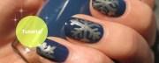 stunning snowflake nail art