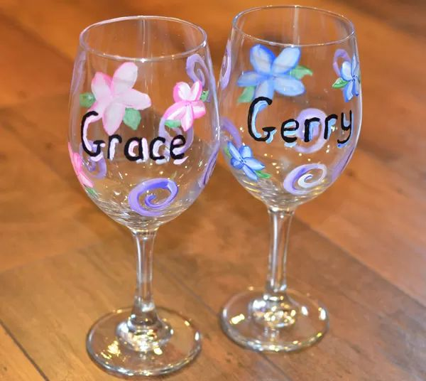 hand painted wine glasses 51 diy ideas