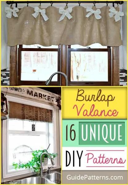 burlap valance 16 unique diy patterns