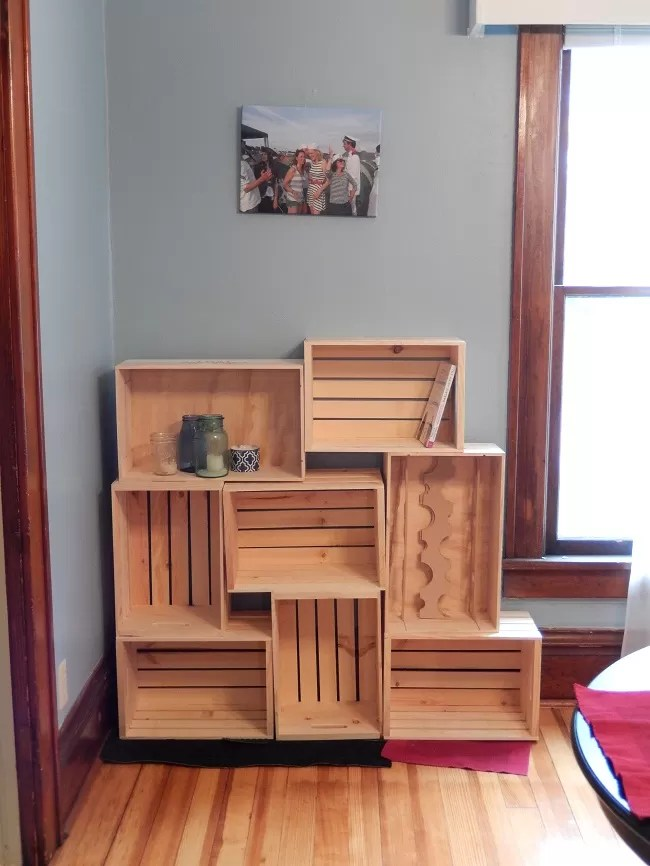 Crate Shelves 25 DIYs  Guide Patterns