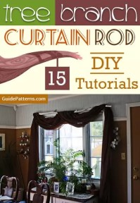 Tree Branch Curtain Rod: 15 DIY Tutorials | Guide Patterns