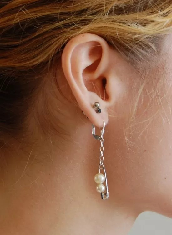 17 DIY Safety Pin Earrings Guide Patterns