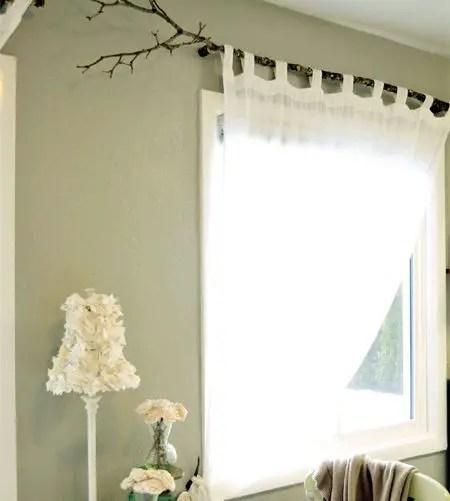 Tree Branch Curtain Rod 15 DIY Tutorials  Guide Patterns