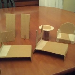 Dollhouse Sofa How To Put Slipcover On 13 Cardboard Plans Guide Patterns