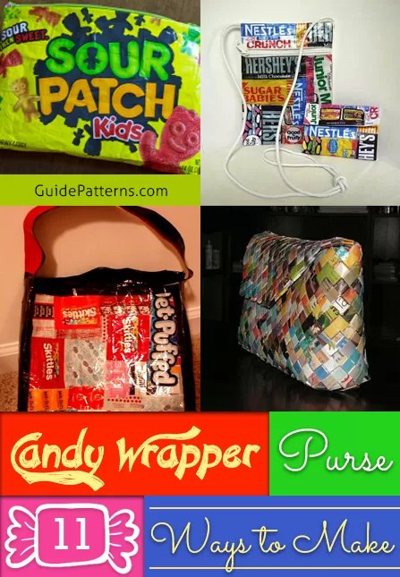 Candy Wrapper Purse 11 Ways to Make  Guide Patterns