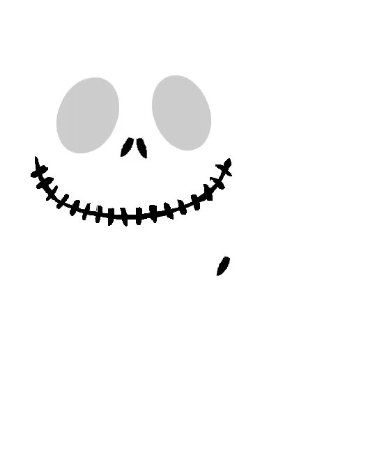 graphic relating to Jack Skellington Pumpkin Stencils Free Printable named Totally free Printable Jack Skellington Pumpkin Carving Stencil