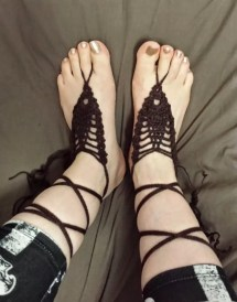 Gladiator Crochet Sandals Pattern Barefoot